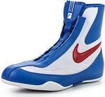 Боксерки Nike MACHOMAI MID Boxing Shoes (синий/белый 461)