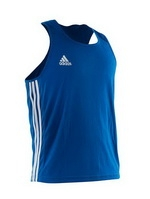 Adidas, Майка боксерская BOXING TOP PUNCH LINE арт.ADIBTT02 (синияя)