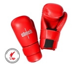 Clinh, Перчатки полуконтакт для кикбоксинга/каратэ/тхэквондо SEMI CONTACT GLOVES KICK арт. C524 (красные)