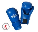 Clinh, Перчатки полуконтакт для кикбоксинга/каратэ/тхэквондо SEMI CONTACT GLOVES KICK арт. C524 (синие)