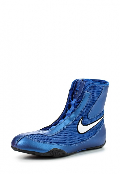 Заказать Боксерки Nike MACHOMAI MID Boxing Shoes (синий 411)