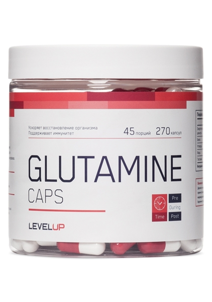 Купить Level Up, Glutamine (270капс)