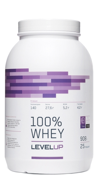 Купить Level Up, 100% Whey, Протеин (908г)